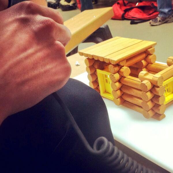 log cabin drill